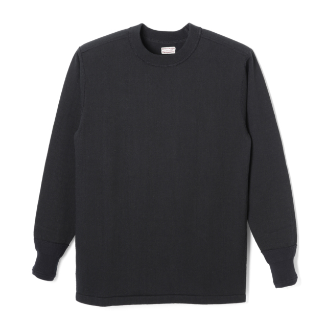 STEVENSON OVERALL Co. Cotton Crewneck Thermal - CT  Black (October, 2019)