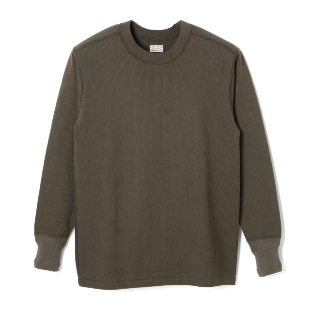 STEVENSON OVERALL Co. Cotton Crewneck Thermal - CT Olive (October, 2019)
