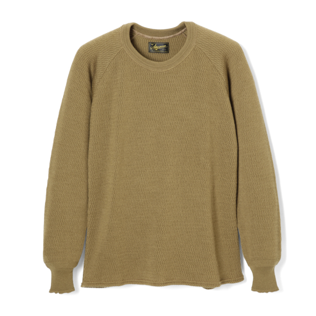 STEVENSON OVERALL Co. Wool Thermal Long Sleeve - WL Merino Wool Khaki (October, 2019)