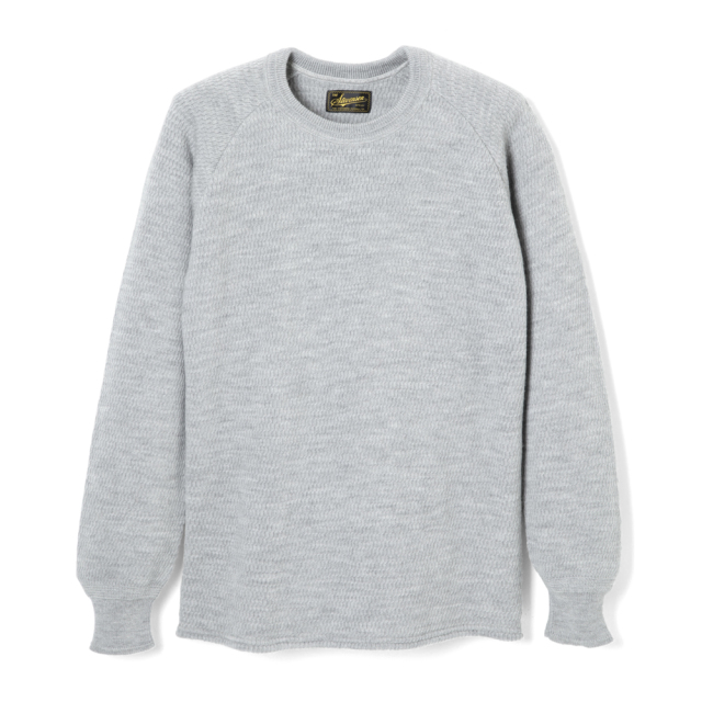 STEVENSON OVERALL Co. Wool Thermal Long Sleeve - WL Merino Wool Light Gray (October, 2019)