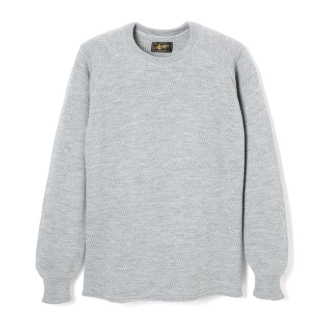 STEVENSON OVERALL Co. Wool Thermal Long Sleeve - WL Merino Wool Light Gray (October, 2019)