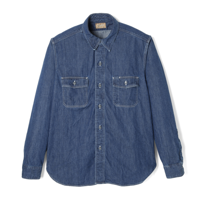 STEVENSON OVERALL Co. Unionist - UI2 WORK SHIRT Faded Indigo (September, 2019)