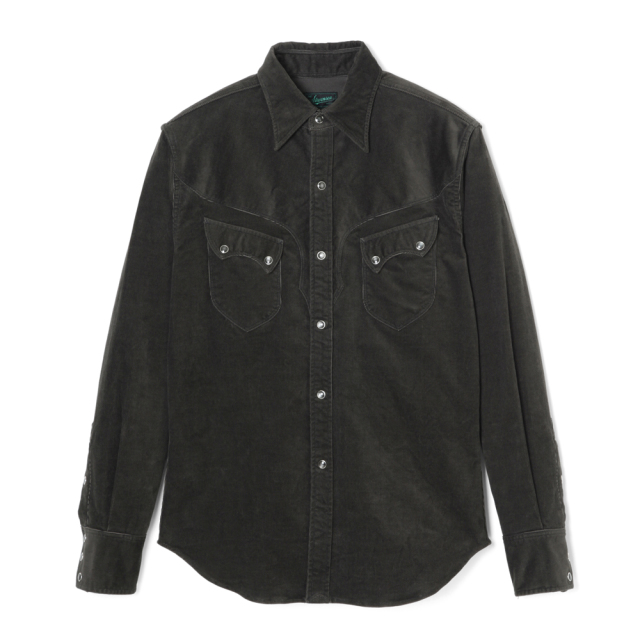 STEVENSON OVERALL Co. Cody CD2 WESTERN SHIRT Charcoal (October, 2019)