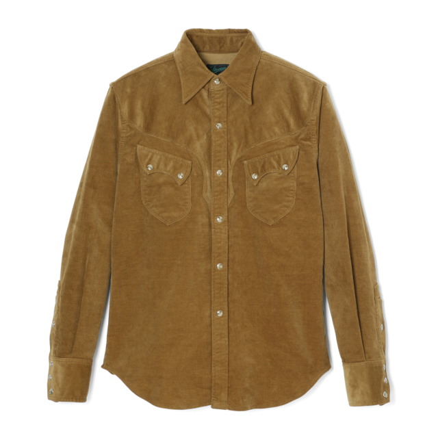 STEVENSON OVERALL Co. Cody CD2 WESTERN SHIRT Khaki (October, 2019)