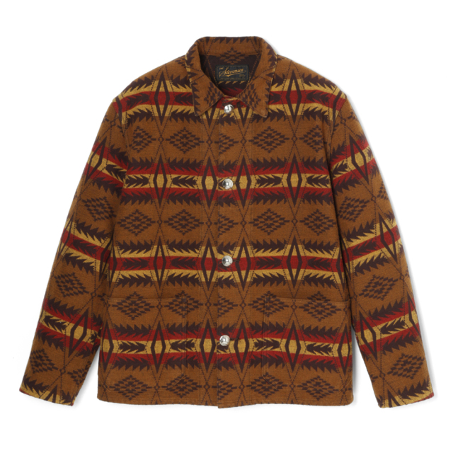 STEVENSON OVERALL Co. Lone Wolf - LW2 CHORE JACKET Brown  (October,2019)