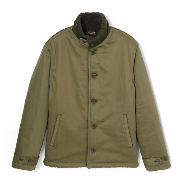 STEVENSON OVERALL Co. Civilian - CV1 DECK JACKET Olive  (November,2019)