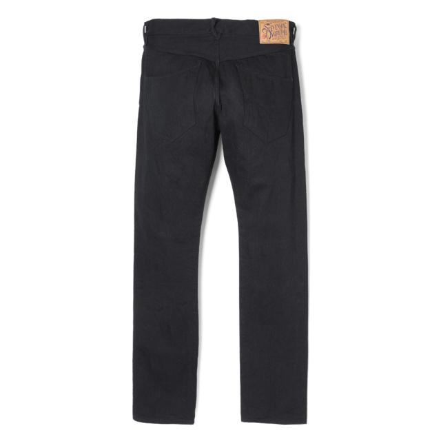 Stevenson Overall Co. Monterey - 110 SLIM TAPERED TAPERED LEG  Black Denim Pants (October, 2019)