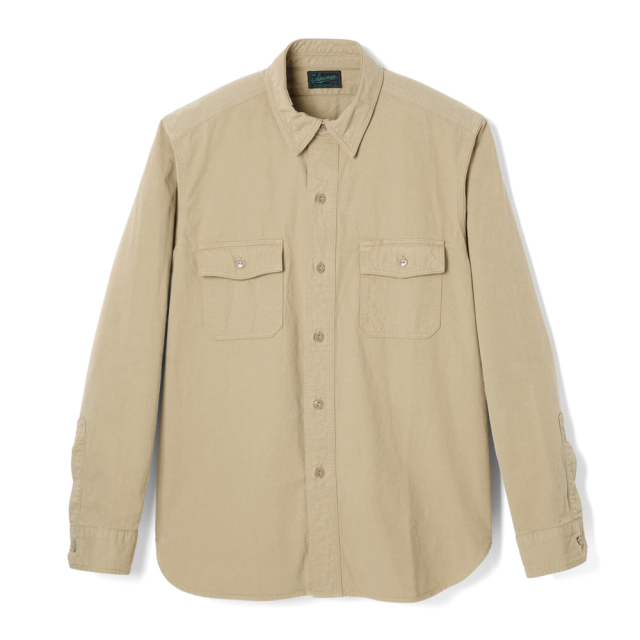 STEVENSON OVERALL Co. Unionist - UI2 WORK SHIRT Khaki (September, 2019)