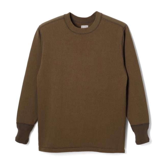 STEVENSON OVERALL Co. Cotton Crewneck Thermal - CT Brown