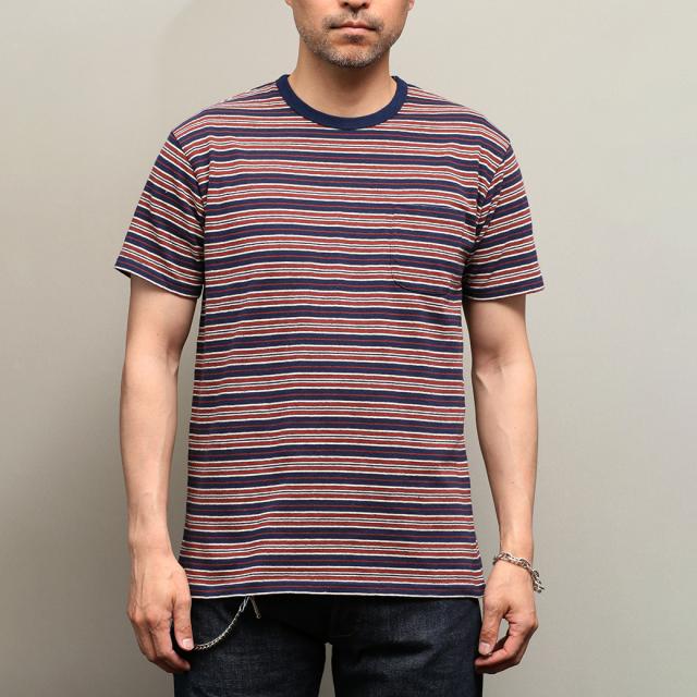 Stevenson Overall Co.  Classic Bordered Pocket T-shirt - CP ボーダー ポケットTシャツ