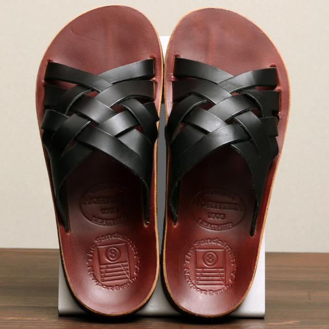 The Sandalman Weave Black  Burgundy Chromexcel サンダルマン クロムエキセル
