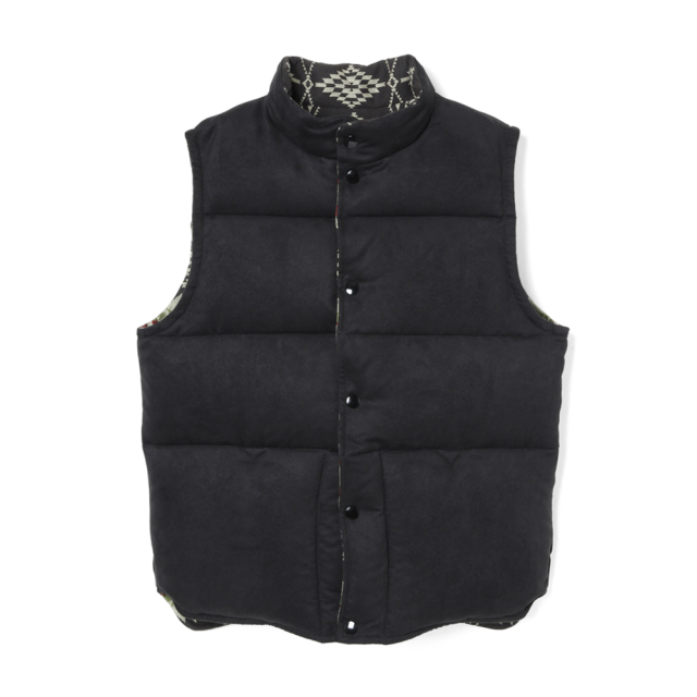 STEVENSON OVERALL Co.  Black Hills - BH1 RIVERSIBLE DOWN VEST Black
