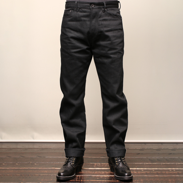 Stevenson Overall Co. Carmel - 220 REGULAR TAPERED LEG Black Denim Pants