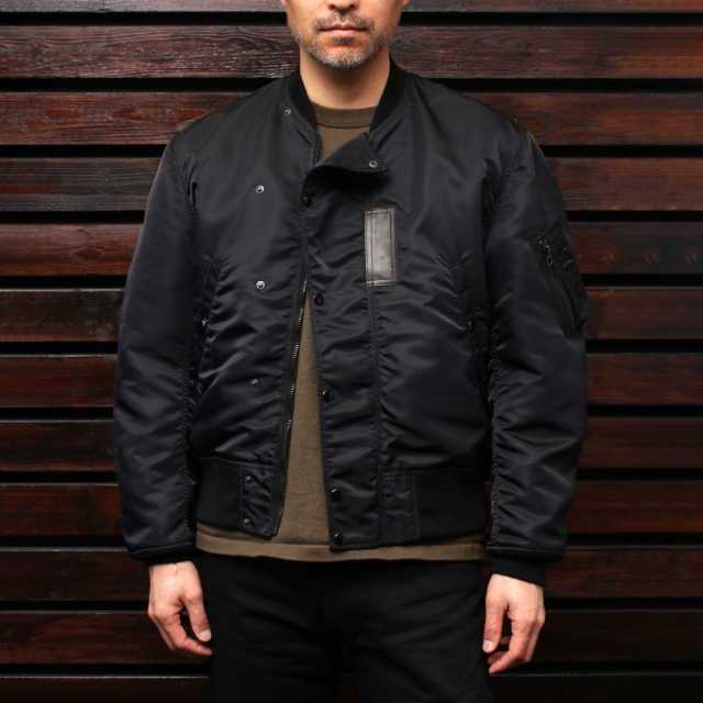 STEVENSON OVERALL Co. Intercepter - IC2 FLIGHT JACKET フライトジャケット Black (綿なし)