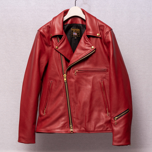 Vanson Special Custom Doulbe Riders Jacket Type 1 Red