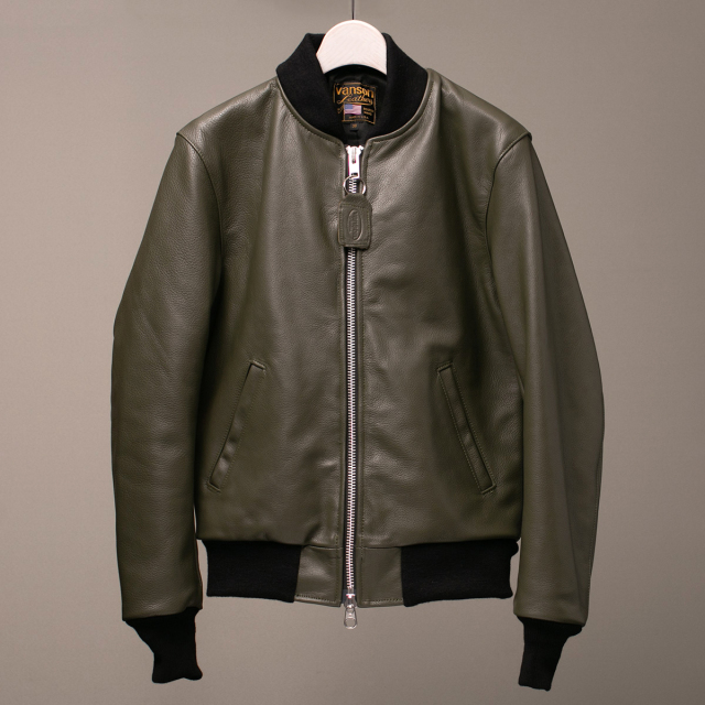 Vanson Special Custom Team Jacket Olive オリーブ