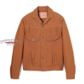 Stevenson Overall Co. Slinger Type ?? - 402 RIVET PLEATED WORK JACKET Original Brown Selvage Canvas
