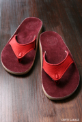 The Sandalman 501Narrow Red Bullhide/Burgandy Suede