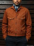 STEVENSON OVERALL CO. Slinger - 401 RIVET PLEATED WORK JACKET brown rigid