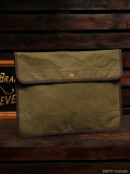 STEVENSON OVERALL CO. x SUNSET CRAFTSMAN CO. Waxed Cotton Clutch Bag - SSC3