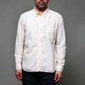 STEVENSON OVERALL CO. Gold Digger - GD2 WORK SHIRT Weathered Ivory Cotton/Linen
