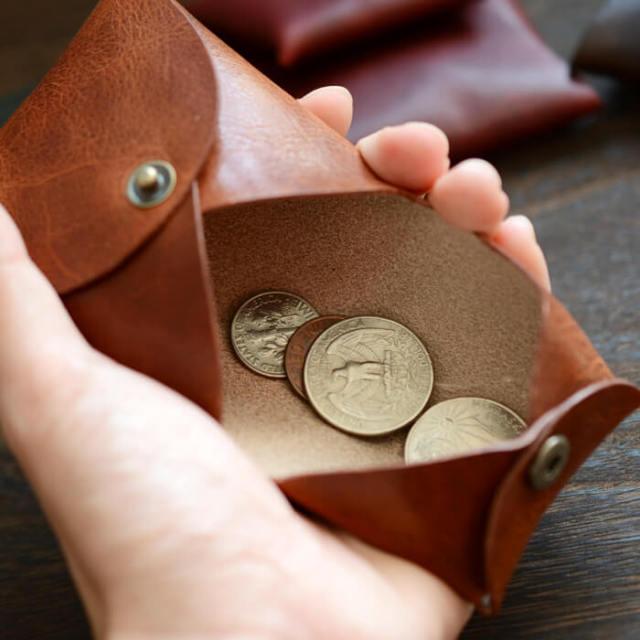 本革 折りたたみ 日本製 コインケース 小銭入れ