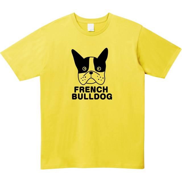 フレンチブルドッグTシャツ オリジナル 七分袖 レディース 通販
