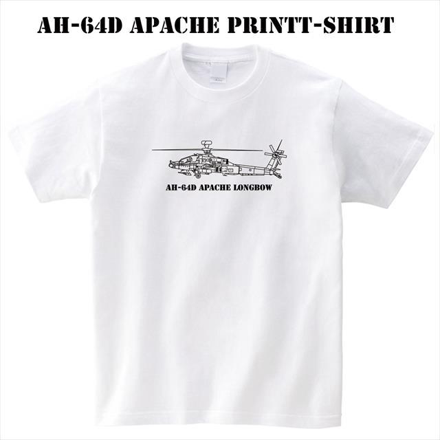 AH-64D ミリタリー プリントTシャツ ロゴ レディース メンズ トップス 半袖