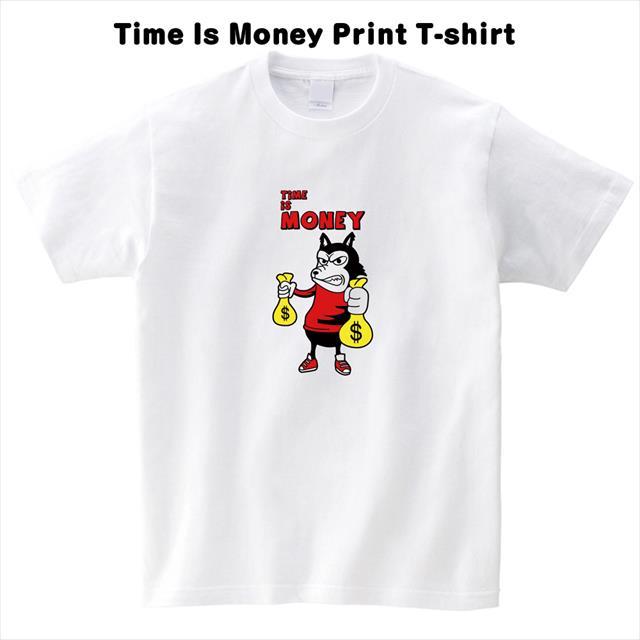 タイムイズマネープリントTシャツ おもしろ キャラクター レディース メンズ アメコミ