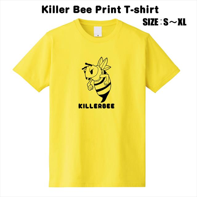 ミツバチ キラービー おもしろTシャツ プリントTシャツ