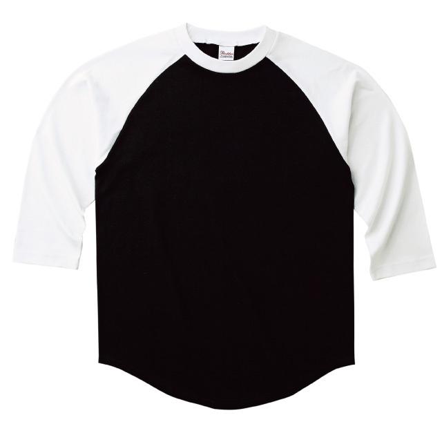 ラグランTシャツ 七分袖 ベースボール レディース 黒白