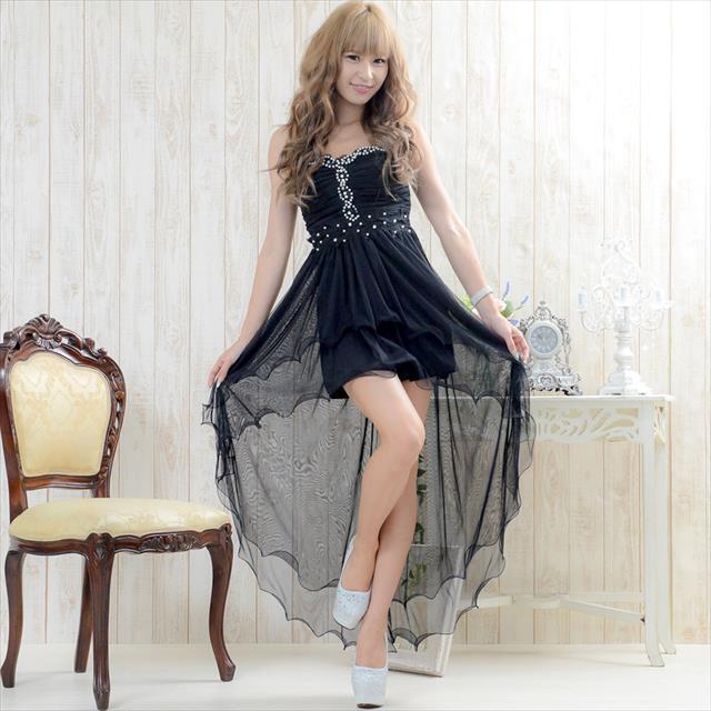 テールプリンセスロングドレス 黒