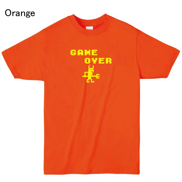 ゲームオーバーロゴプリントTシャツ オリジナル