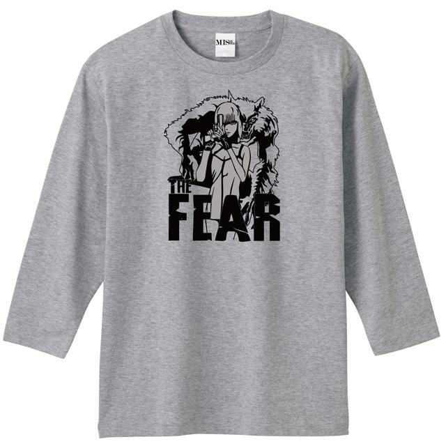 女性と狼音ロゴプリント7分袖Tシャツ
