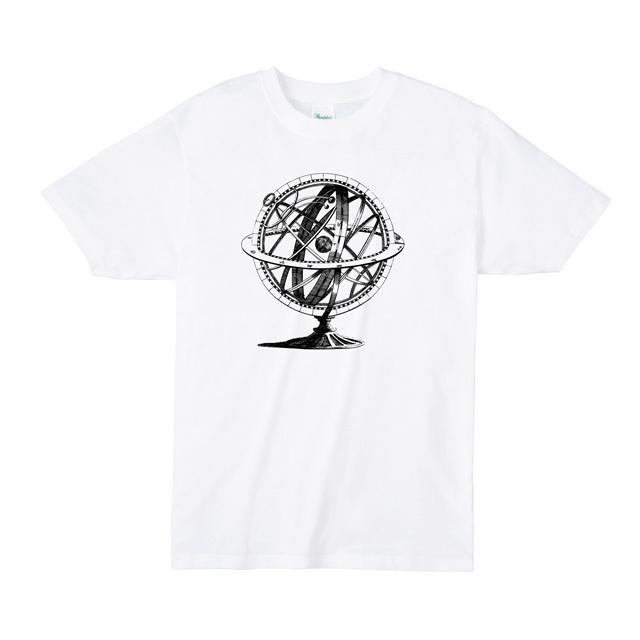 アーミラリ天球儀プリントtシャツ