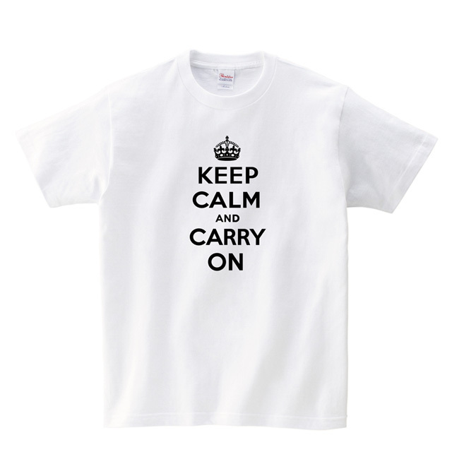 Keep Calm and Carry On ロゴ Tシャツ