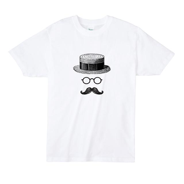 カンカン帽マスタッシュ Tシャツ オリジナル
