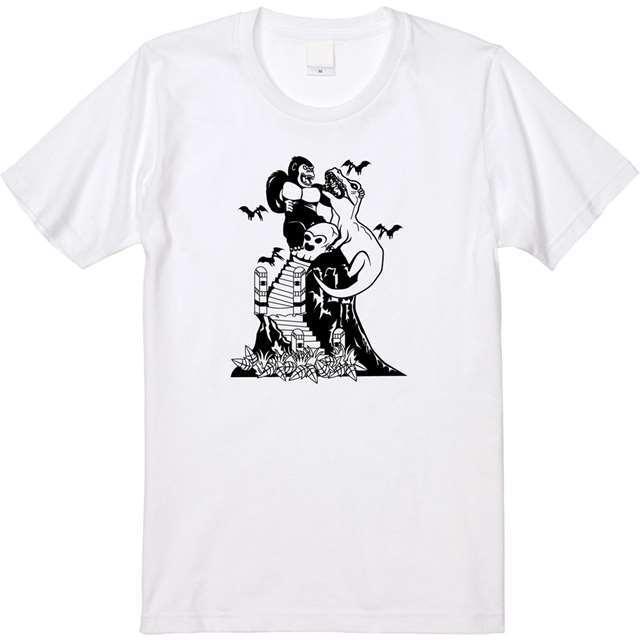 キングコング 恐竜 Tシャツ オリジナル レディース ファッション