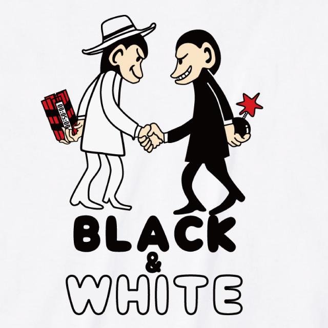 Black & White プリントTシャツ サル オリジナル レディースファッション 通販