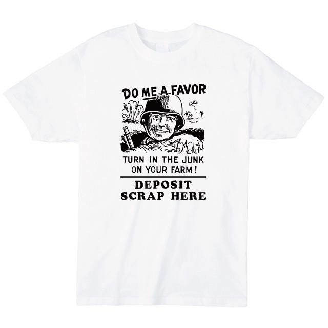 DO ME A  FAVOR プリントTシャツ オリジナル 戦争ポスター レディースファッション 通販 エナー ener