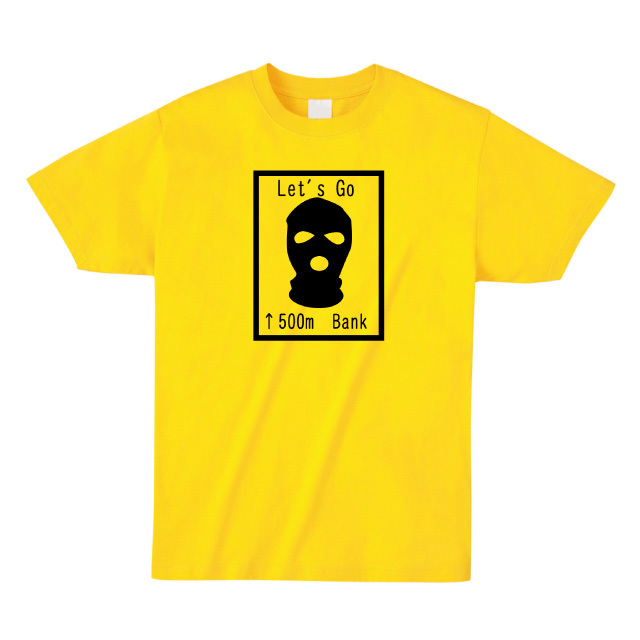 パロディー交通標識プリントTシャツ オリジナル ファッション