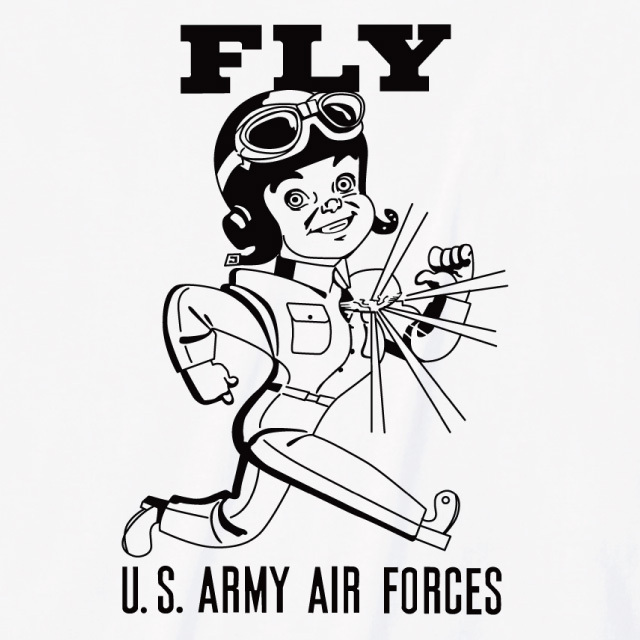 US army-airforces プリントTシャツ オリジナル アメコミ 米軍