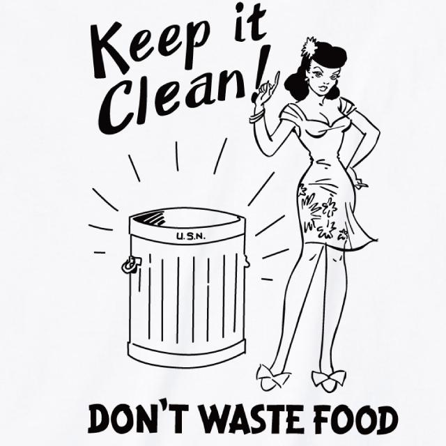 Keep it Clean!プリントTシャツ レトロポスター
