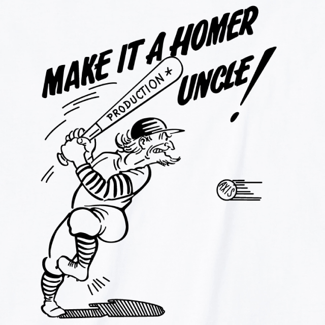MAKE IT A HOMER UNCLE プリントTシャツ