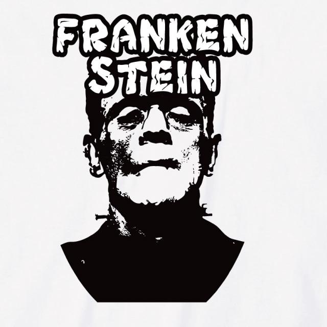 フランケンシュタインtシャツ ホラー おもしろ ロゴ