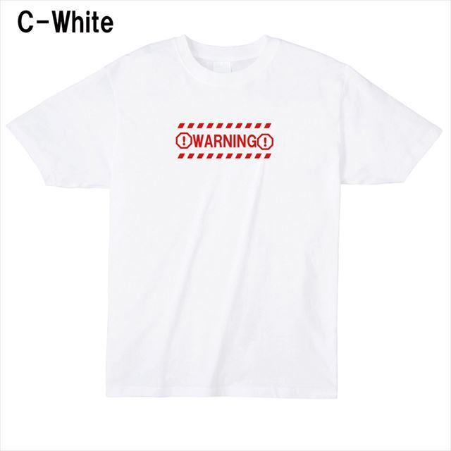 WARNINGロゴTシャツ トップス 半袖 英字 アメカジ オリジナル メンズ レディース 白