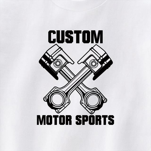 ピストン プリントTシャツ 機械 ロゴ おもしろ レディース メンズ