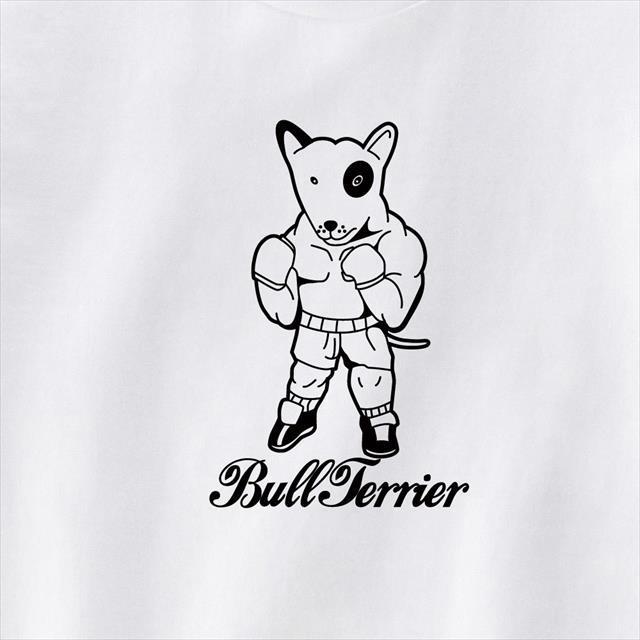 ブルテリアボクサープリントTシャツ 動物 おもしろ キャラクター 犬 トップス