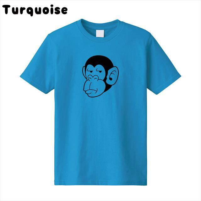 チンパンジー 動物 おもしろ キャラクター アメコミ オリジナル プリントTシャツ