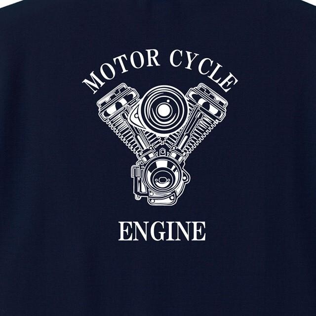 エンジンロゴバックプリントドライポロシャツ 胸ポケットなし